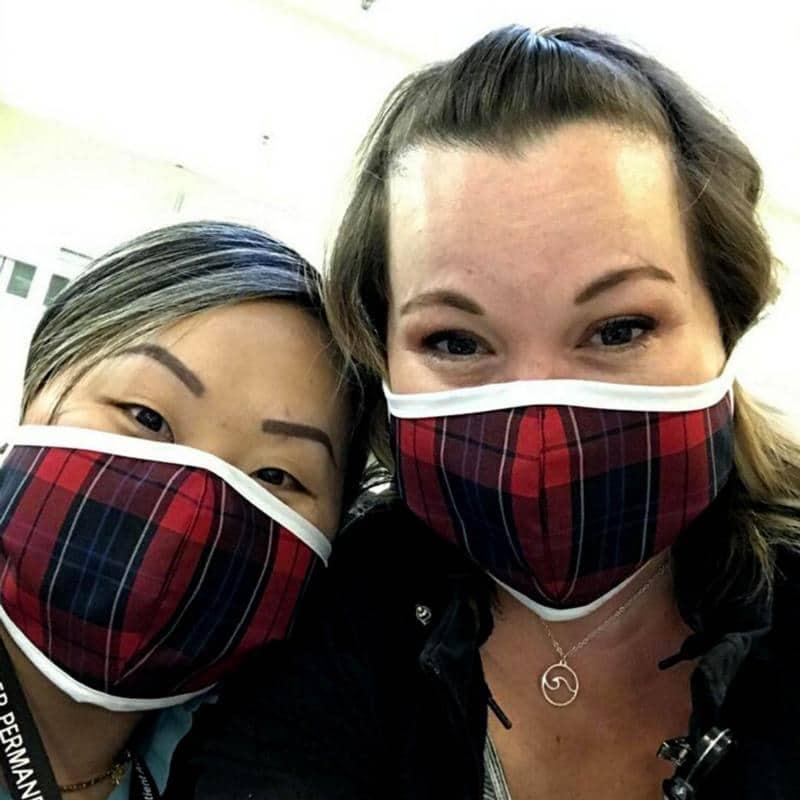 Catholic school uniform company now making, donating face masks