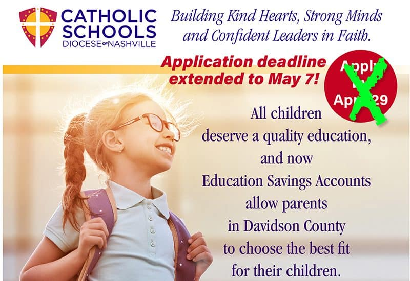 Diocese makes final push to encourage families to apply for ESAs