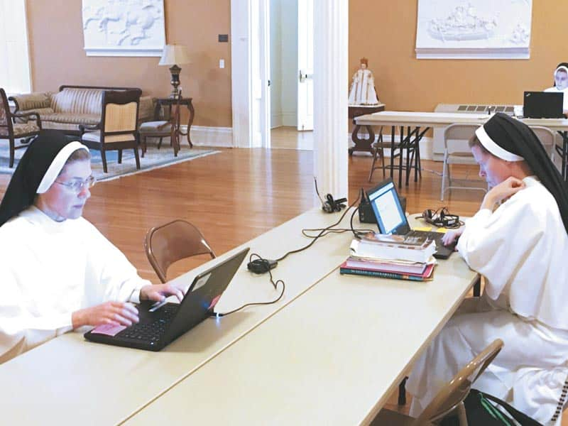 Religious sisters hunker down, pray to stave off pandemic