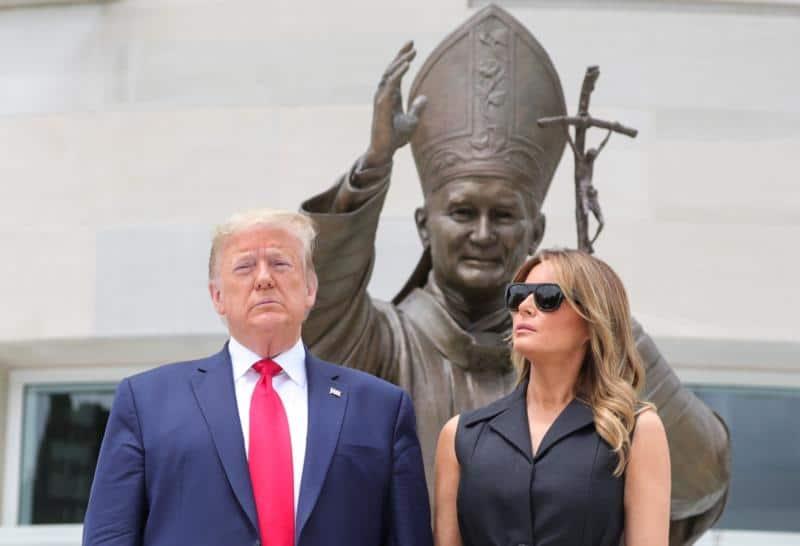 Update: Trump visits shrine on anniversary of St. John Paul II visit to Poland