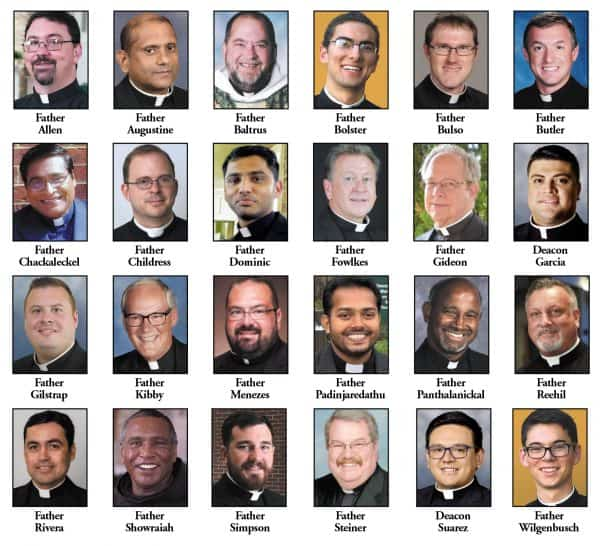 Bishop Spalding announces new priest assignments