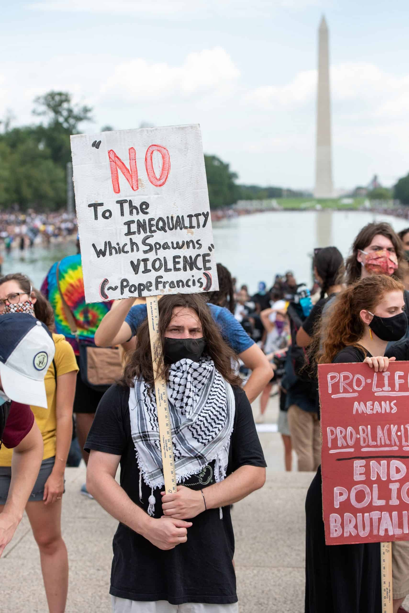 Read more about the article Catholic organizations, faithful took part in 2020's March on Washington