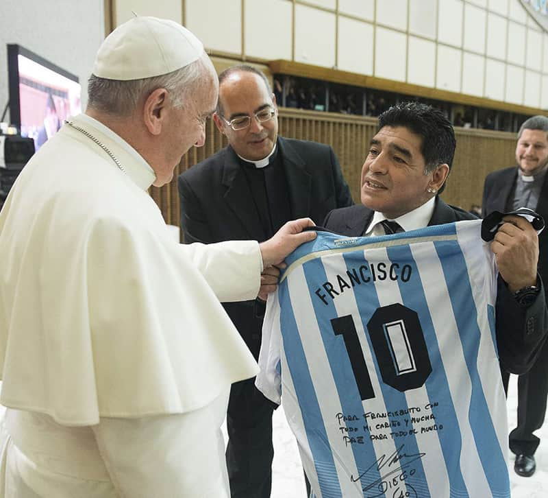 Soccer legend Maradona was 'poet' on the field, pope says