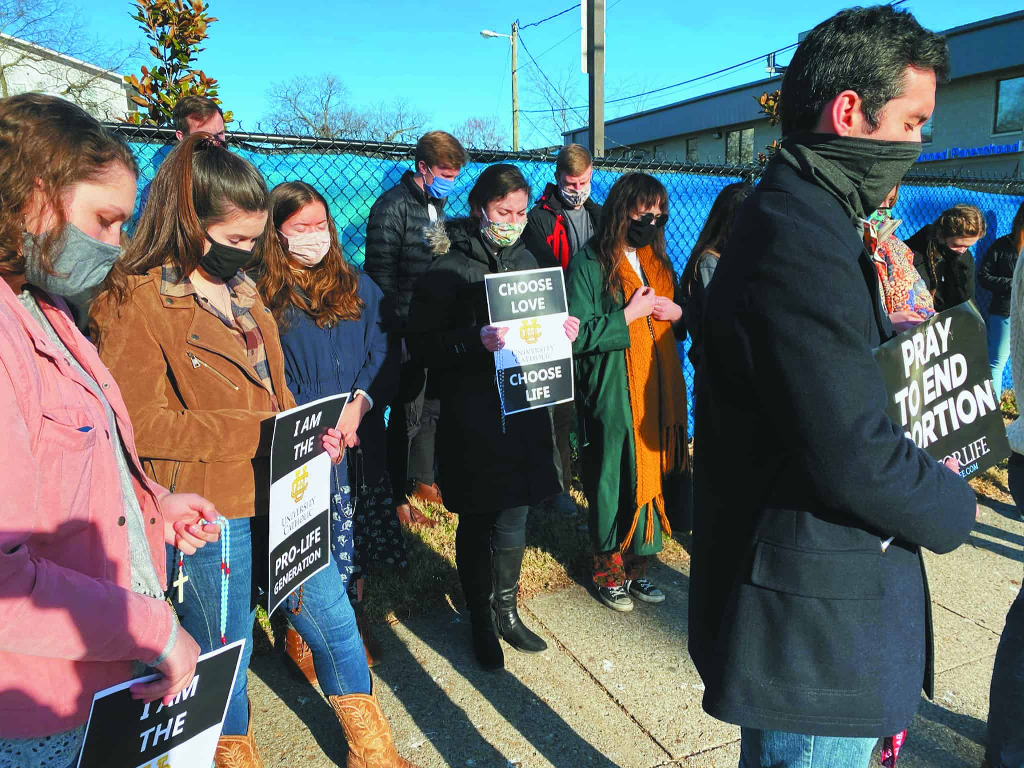 Youth make local pilgrimage for life