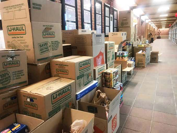 Father Ryan students set new record with recent Canned Food Drive