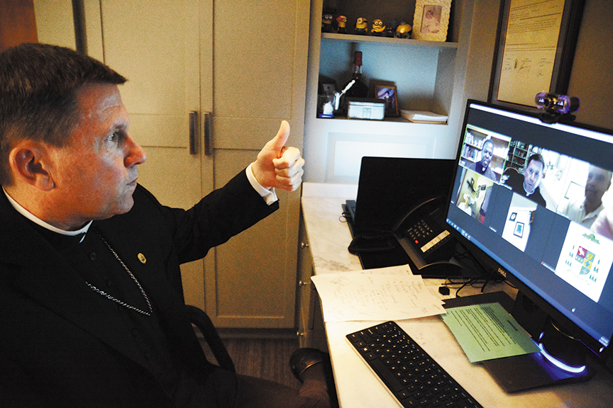 Read more about the article Bishop connects with parishes with online meetings